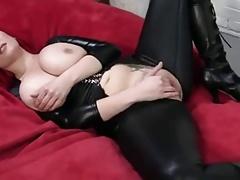 Busty Pornstar - POV Redhead in Latex