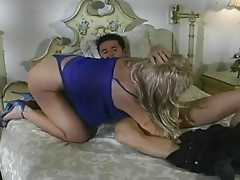 Sex crazed MILF blonde taking dick up her tight ass