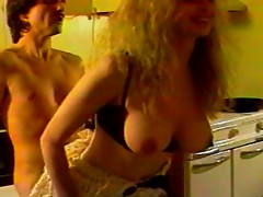 Blonde mature slut gets fucked by the younger plumbers hard cock