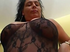 MILF brunette slut with big tits sucking hard cock and getting fucked