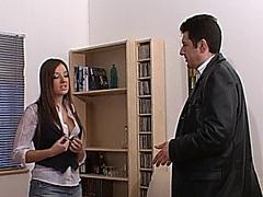 British slut Cate Harrington fucked for rent money
