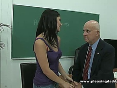 Young Slut Fucks Old Teacher Dave Cummings