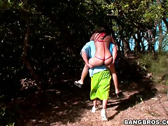 Outdoors sex with the hot Latina Abella Anderson