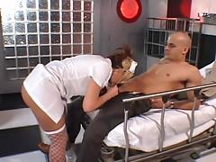 Sexy nurse is fucked hard by a horny patient with a big cock