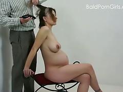 Bald pregnant porn slut