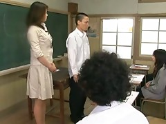 Teacher forces boy to ejaculate in front of giggling students