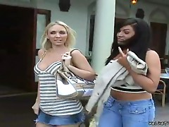 Blonde & brunette get freaky as fuck