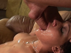 Reagan Anthony getting her mouth and throat rough fucked