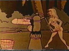 Funny vintage XXX animated cartoon