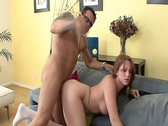 Redhead slut Farrah Rae getting a doggystyle fuck