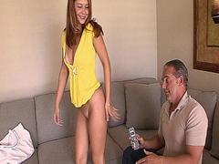 Sexy slut loves getting her pussy fucked by her step dad