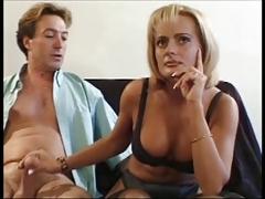 hot blonde milf gets nice anal and suck cum