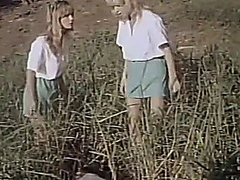 2 Girl Scouts in Field Fantasy