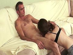 Amateur couple sucks and fucks in their own porn movie