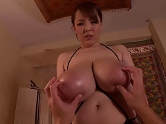 Hitomi's Jugs Smother A Dick Until It Cums