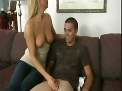 Mom aunt and sister jerked son