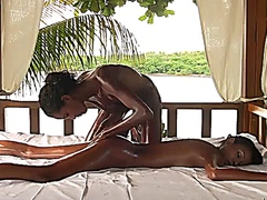 2 HOT TEENS ChocolateORGASM Massage -