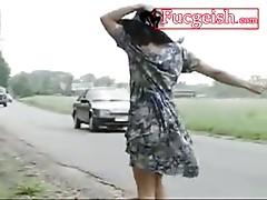 Retro Black Chick In Hat Fucked By Side Of The Road Video