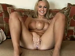 Blonde mutant freak with three tits sucks and gets fucked!