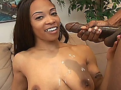 Black babe Destiny Day takes a big black dick up her wet holes