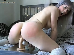 Cute Blonde Spanking Herself x50