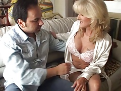 Mature in sexy lingerie fucks hard