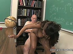 Young Black Slut Fucks Horny Teacher