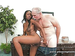 Ebony Student Fucks Horny Old Dean