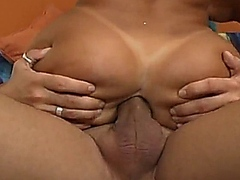 Two tanned beautiful asses in anal orgy