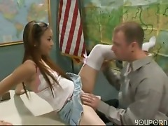 Cute Teens - Schoolgirl and Teacher Fuck in Class