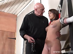 Bastinado and amateur bdsm dungeon of private slave girl Lex