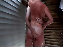couple fuck in outdoor shower