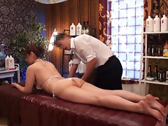 Slimming Massage for Busty Japanese Wives - 1