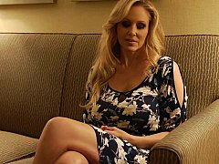 Julia Ann undressing before having sex