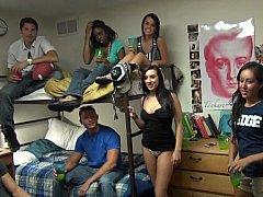 College students having fun