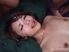Hot Japanese pornstar Ayu Sakurai getting fucked in a few scenes