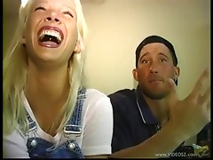 Blonde hussy Claudia Chase gets pussy fucked after BJ