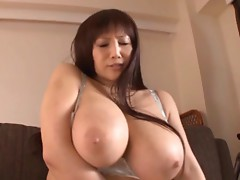 Horny Japanese slut with huge tits gets drilled hard