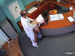 Patient hungry for her doctor's cock