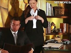 Sexy secretary Maddy Oreilly fucked hard