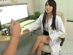 Kinky Japanese doctor dominates and humiliates her patient