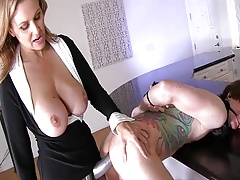 MILF Owns Son With Strap-On