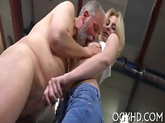 Old lad craves for youthful hole