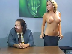 Ardent cougar with a piecing and fake tits getting drilled hardcore on the table