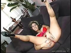 Latina porn star with big boobs enjoying a hardcore cowgirl style fuck