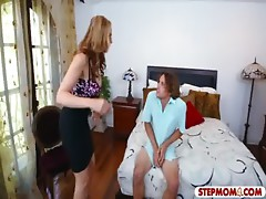 MILF punished her stepson with the maid