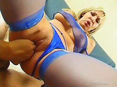 Attractive blonde cougar being smashed hardcore doggystyle in pov shoot