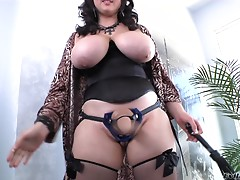 Beverly Paige's shaved pussy gets pounded with a naughty and hot horny stud