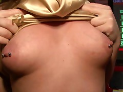 Nasty club party featuring babes flashing natural tits in coeds scene
