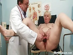 Chubby blond mom hairy pussy doctor exam  -